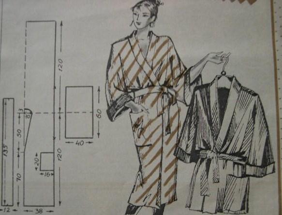 Выкройка женского халата на молнии